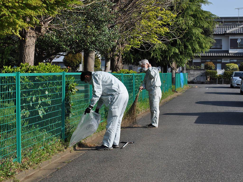 飯能市柿堂公園の清掃活動 細田建設